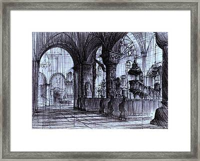 Church Interior In Strzelno Poland Framed Print by Krystian  Wozniak