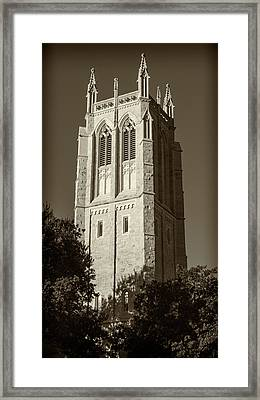Church Of Heavenly Rest Bell Tower #2 Framed Print by Stephen Stookey