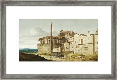 Church Of Santa Maria Della Febbre - Rome Framed Print by Pieter Jansz Saenredam