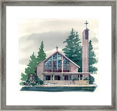 Church Of The Immaculate Heart Of Mary Framed Print by Donald Maier
