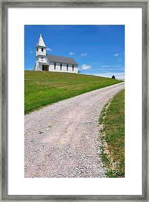 Church On A Hill Framed Print by Thomas R Fletcher