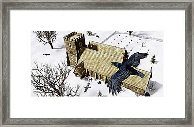 Church Ravens Framed Print by Peter J Sucy