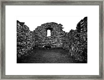 Church Ruins Hvalsey Framed Print by Juergen Weiss