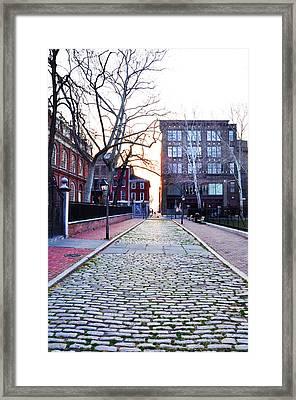 Church Street Cobblestones - Philadelphia Framed Print by Bill Cannon