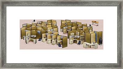 Churn Decluttered Framed Print by Simon Currell