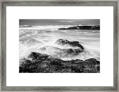 Churning Waves Framed Print by Masako Metz