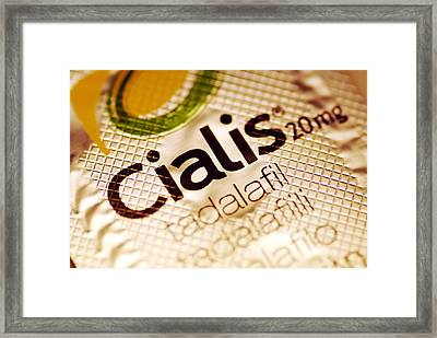 Cialis Packaging Framed Print by Pasieka