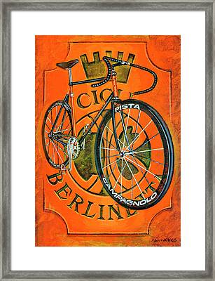 Cicli Berlinetta Framed Print by Mark Howard Jones