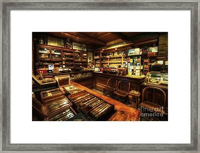 Cigar Shop Framed Print by Yhun Suarez
