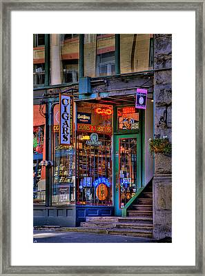 Cigar Store Framed Print by David Patterson