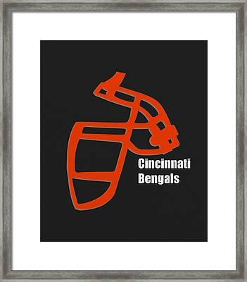 Cincinnati Bengals Retro Framed Print by Joe Hamilton
