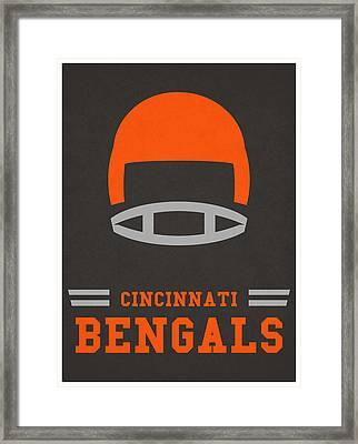 Cincinnati Bengals Vintage Art Framed Print by Joe Hamilton