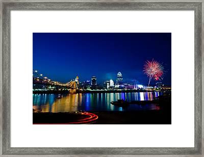 Cincinnati Boom Framed Print by Keith Allen