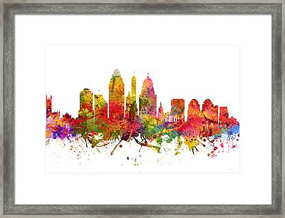 Cincinnati Cityscape 08 Framed Print by Aged Pixel