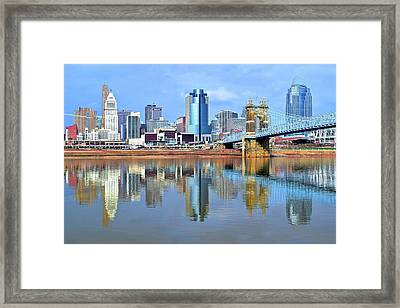 Cincinnati Ohio Times Two Framed Print by Frozen in Time Fine Art Photography