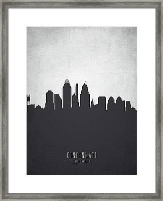 Cincinnati Ohio Cityscape 19 Framed Print by Aged Pixel