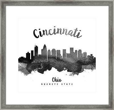 Cincinnati Ohio Skyline 18 Framed Print by Aged Pixel