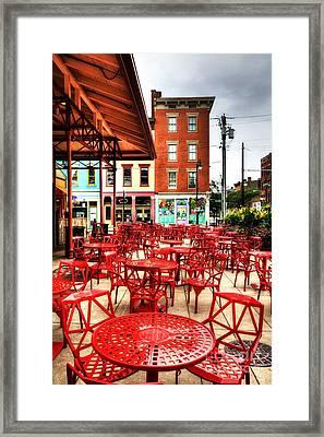 Cincinnati Red At Findlay Market Framed Print by Mel Steinhauer