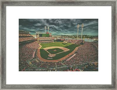 Cincinnati Reds Great American Ballpark Creative 5 Framed Print by David Haskett