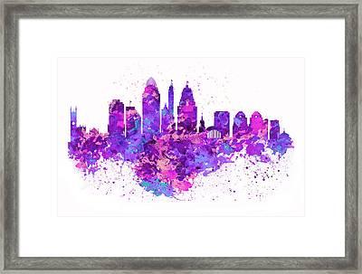 Cincinnati Skyline Framed Print by Marian Voicu