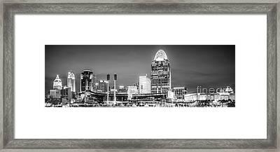 Cincinnati Skyline Panorama Picture Framed Print by Paul Velgos