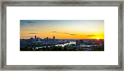 Cincinnati Sunrise II Framed Print by Keith Allen