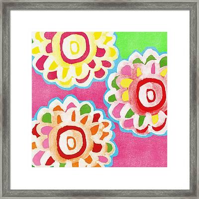 Fiesta Floral 2 Framed Print by Linda Woods