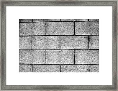 Cinder Block Wall Framed Print by Jera Sky