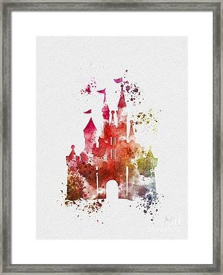 Cinderella Castle 3rd Edition Framed Print by Rebecca Jenkins