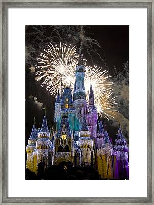 Cinderella Castle Spectacular Framed Print by Charles  Ridgway
