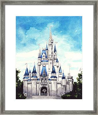 Cinderella's Castle Framed Print by Laura Row