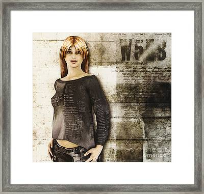 Cindy Framed Print by Jutta Maria Pusl