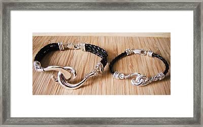 Circle Hook Bracelet Framed Print by Carey Chen