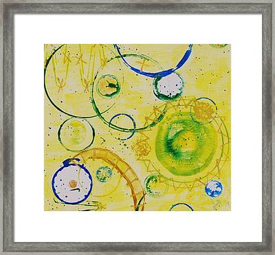 Circle Obsession 3 Framed Print by Lori Kingston
