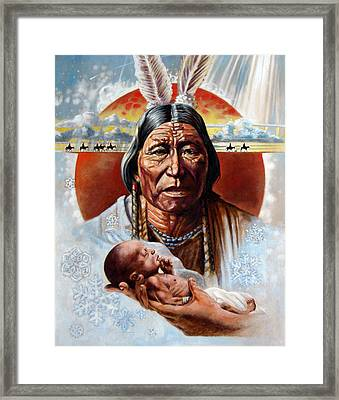 Circle Of Life Framed Print by John Lautermilch