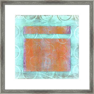 Circles And Rectangles Abstract  Framed Print by Carol Leigh