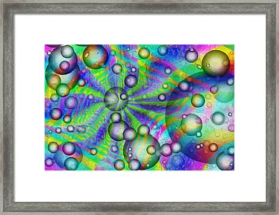 Circles And Squares Framed Print by Jack Zulli