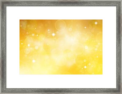 Circles And Stars Framed Print by Les Cunliffe