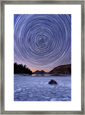Circles Over Bubbles Framed Print by Michael Blanchette