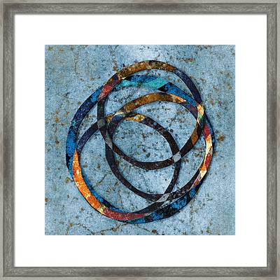 Circles Within Framed Print by Carol Leigh