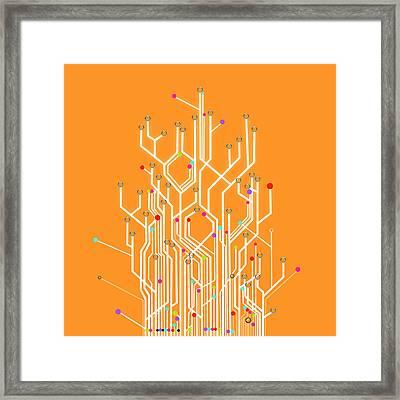 Circuit Board Graphic Framed Print by Setsiri Silapasuwanchai