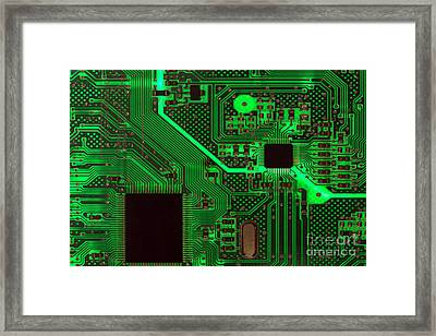 Circuitry Framed Print by Olivier Le Queinec