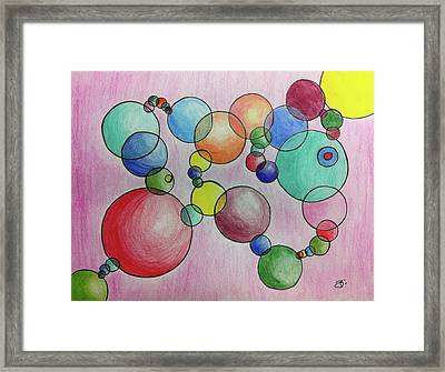 Circular Reasoning Framed Print by Donna Blackhall