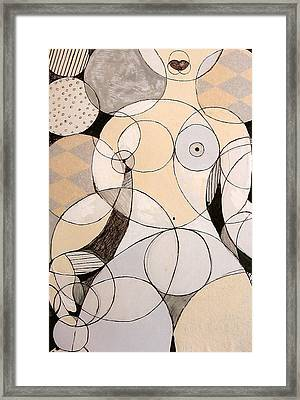 Circularity Framed Print by Joanne Claxton