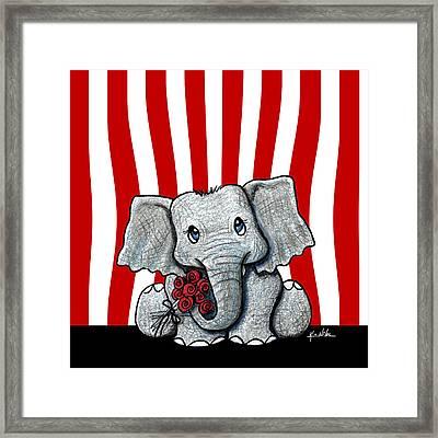 Circus Elephant Framed Print by Kim Niles