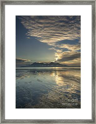 Cirrocumulus Sunset Over Rhum From Eigg Framed Print by John Potter