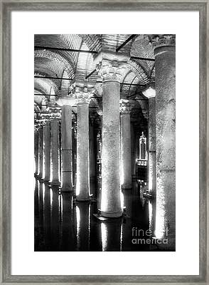 Cistern Columns Framed Print by John Rizzuto