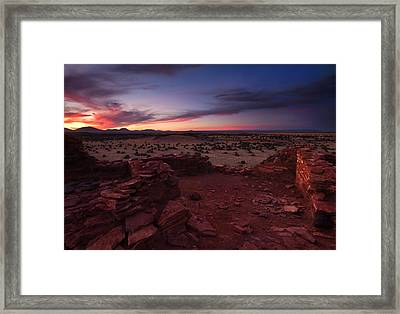 Citadel Sunset Framed Print by Mike  Dawson