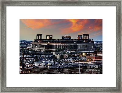 Citi Field Sunset Framed Print by Nishanth Gopinathan