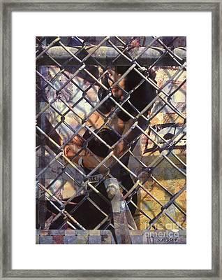 cities ghetto girl photography - Mona Lisa Framed Print by Sharon Hudson